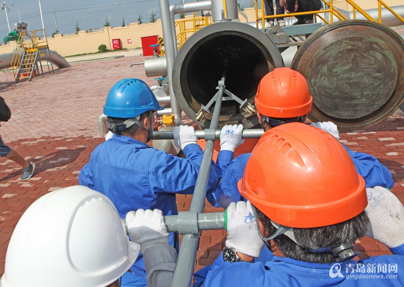 董家口港-潍坊-鲁中、鲁北输油管道一期通油