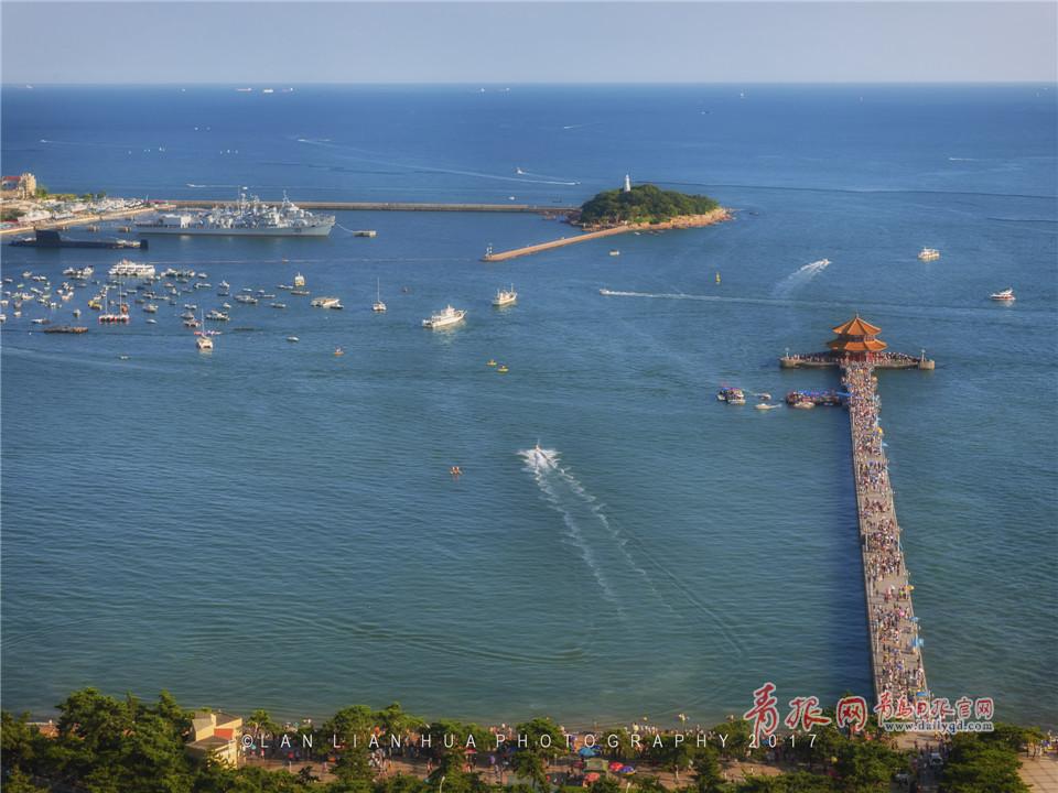 初秋鸟瞰青岛老城区 被这座童话城堡圈粉(图)