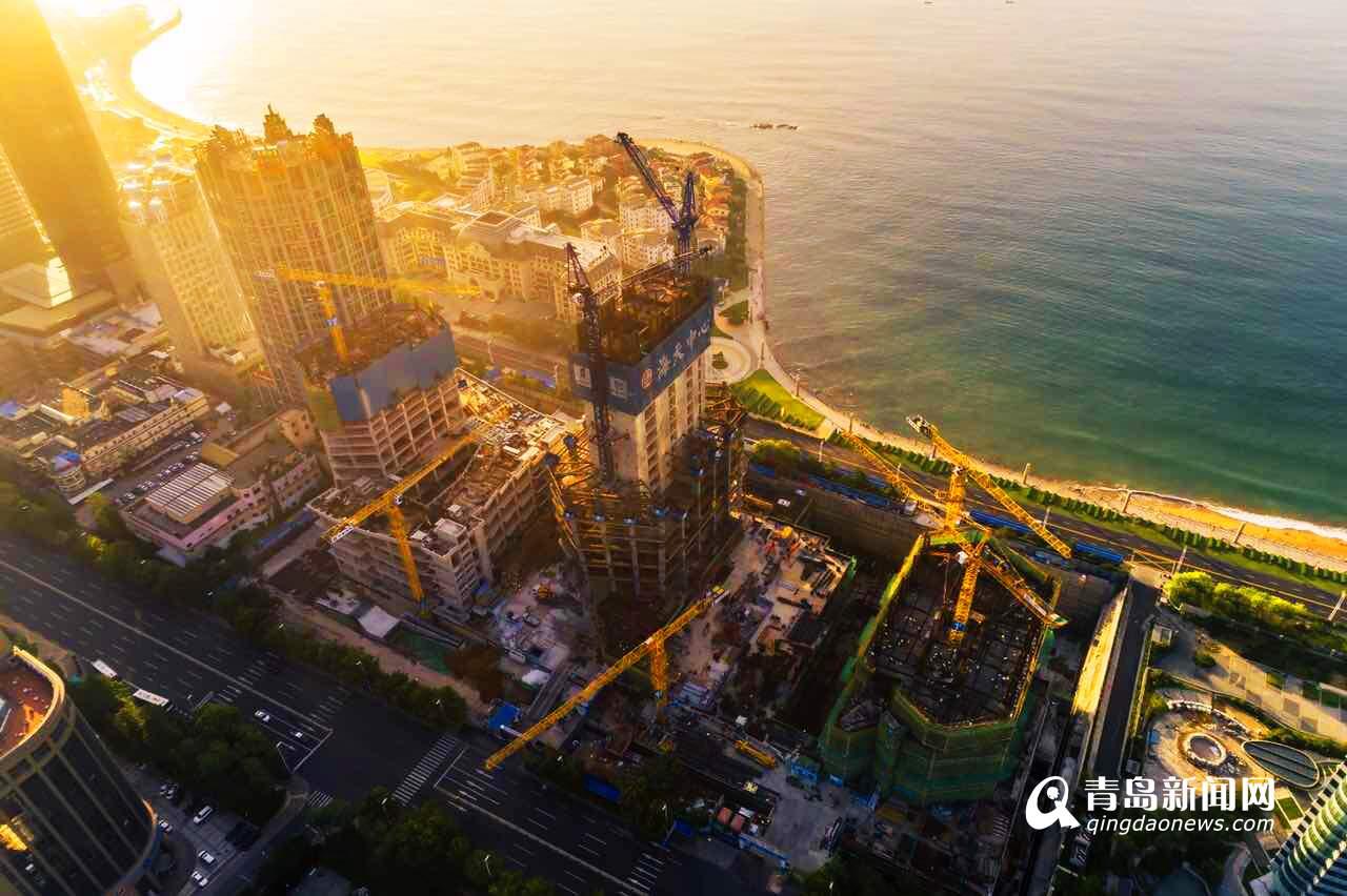 俯瞰海天中心 高369米将成第一高楼
