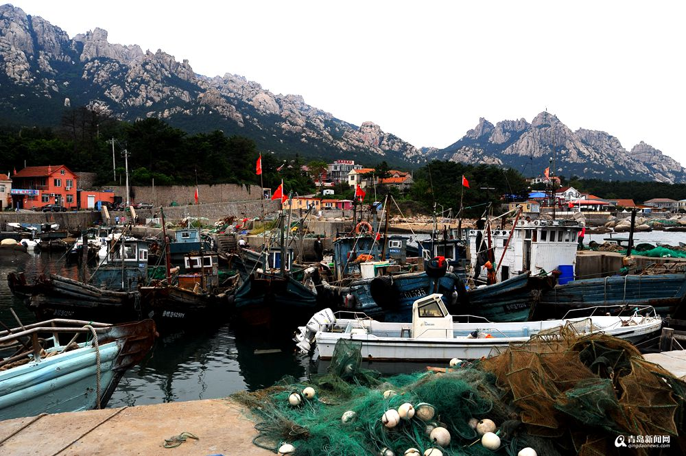 高清:金秋时节游崂山观海感受渔村丰收之美