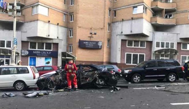 乌克兰首都基辅市发生汽车爆炸致1死3伤(图)