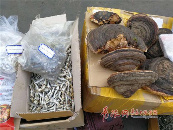 青岛集中销毁1.5吨禁止进境物品 大都是吃的