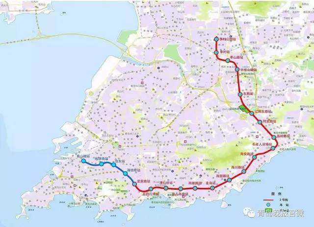 青岛地铁4号线开工过半 市南到崂山嗖嗖的(16条线路大全)