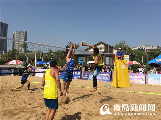 首届青岛潍坊总部基地杯沙滩排球邀请赛开赛