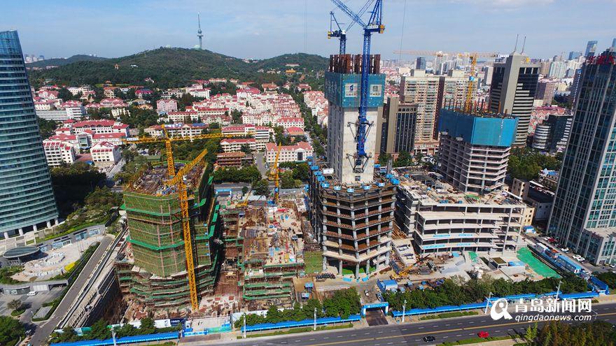 海天中心主塔楼已建20层 明年底主体封顶