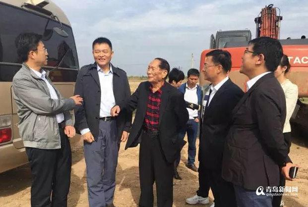 袁隆平城阳种水稻 打造万亩盐碱地稻作改良项目