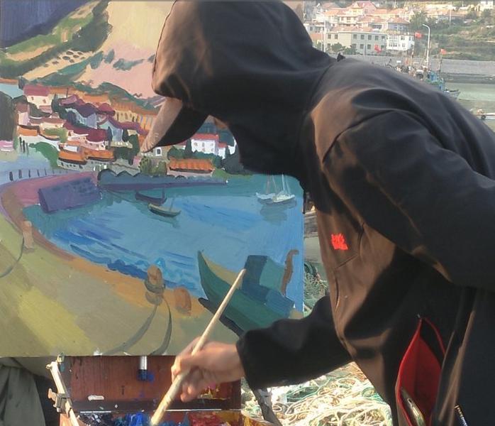 写生季 崂山景点被全国各地艺术人占领