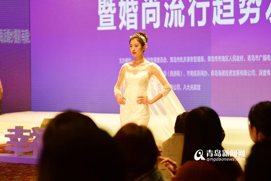 高清:美翻 中外模特同台 上演华丽婚纱走秀