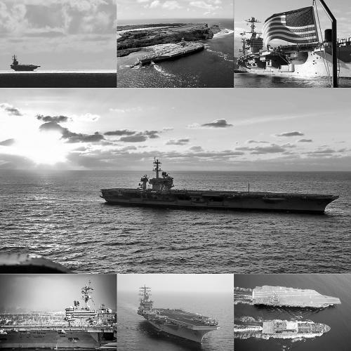 美国首次大规模展示军力:七艘核航母同时出海