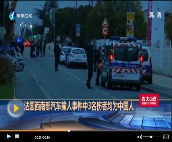 法国撞伤中国学生一人出院 肇事者有精神病史