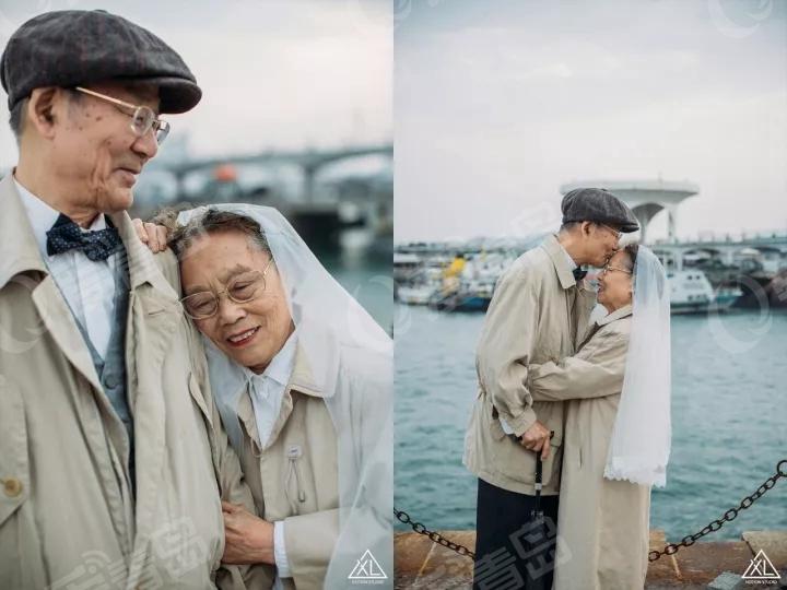 相爱57年 青岛老两口婚纱照席卷朋友圈