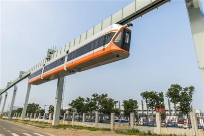 青岛造国内首条悬挂式空轨创5项专利 填补空白