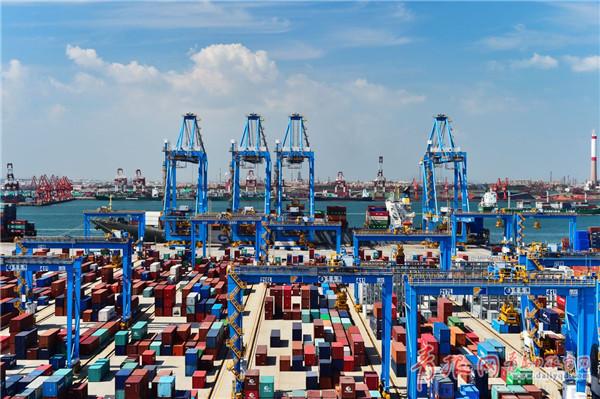 西安无人组图探访运输装卸全自动(码头)青岛披萨喜鹅肝百特图片