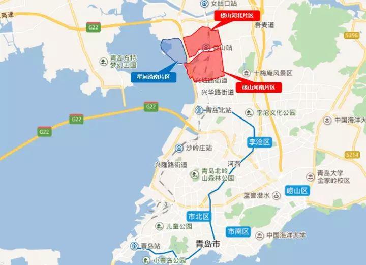 青岛星河湾地图