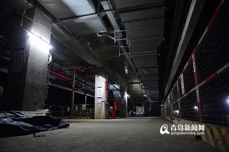 mg电子游戏网站:高清:探访青岛地铁13号线车站_主体全部完工