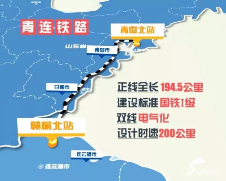 北可连接胶济客专,青荣城际,蓝烟铁路 构成了我国东北地区经山东半岛