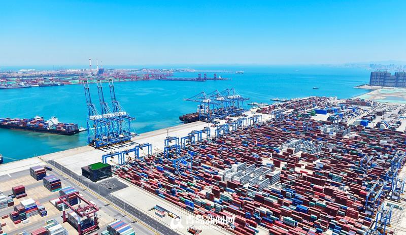 青岛港对上合组织成员国贸易频繁 海运年出口50万标准箱