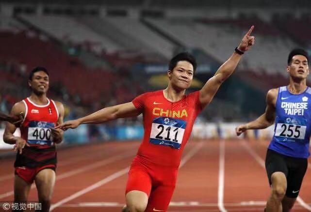 苏炳添破亚运纪录首夺百米金牌 中国男飞人8年后再登顶