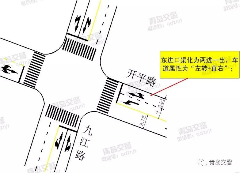 保证开平路通行畅通 市北区两处路口交通组织优化
