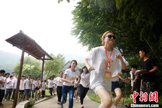 资料图:50名台湾学生到湖南省参加拓展训练。<a target='_blank' href='http://www.chinanews.com/'>中新社</a>发唐哲威摄