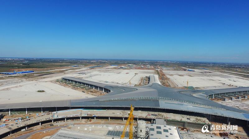 组图:航拍胶东国际机场 航站楼进入精装修阶段