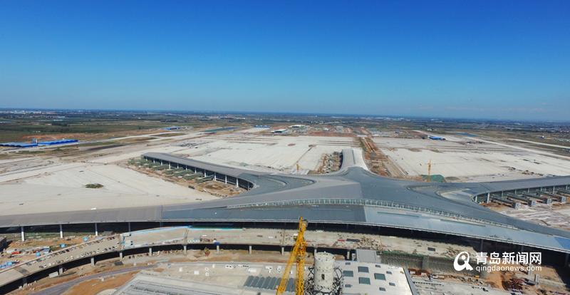 航拍图!青岛胶东国际机场航站楼已开始设备调试