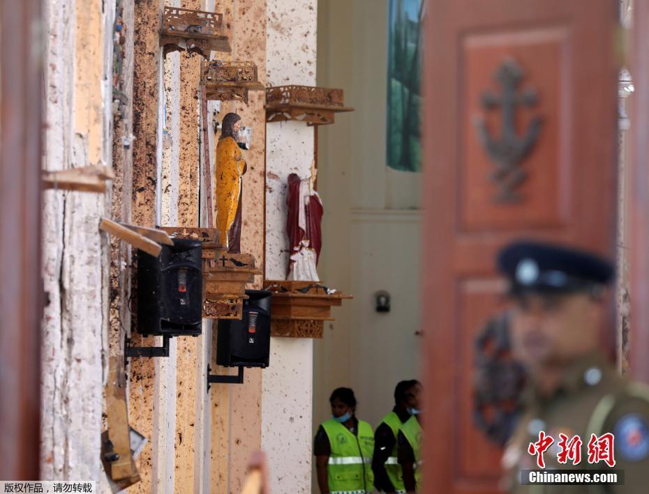 触目惊心!斯里兰卡受袭教堂白墙溅满爆炸残渣