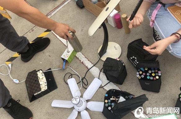 青岛高校跳蚤市场欢乐多 麻将、吉他还有沐浴露