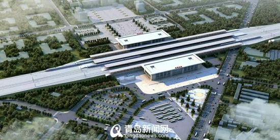 莱西北站改造效果图首曝 8月启用新建信号楼