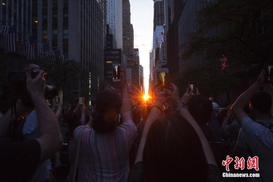 纽约曼哈顿悬日