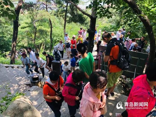 崂山暑期旅游高峰来了仰口日均接待量7000人次
