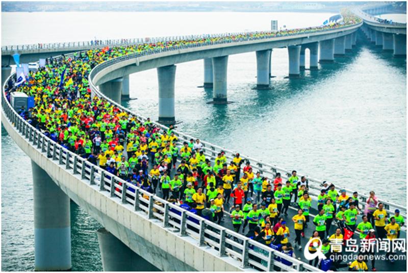 青岛海上马拉松开启报名 时尚体育之路迈出坚实