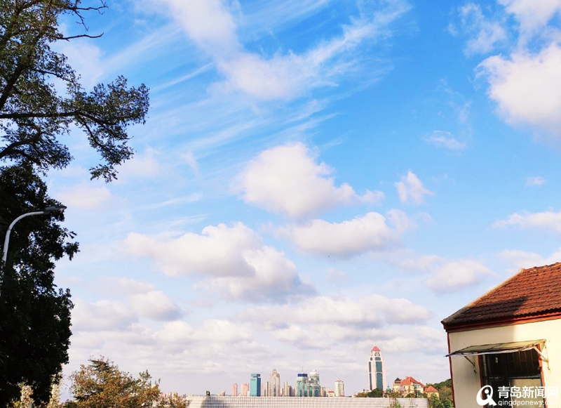 明天最低4℃秋裤已上线 大风吹出青岛神仙天空