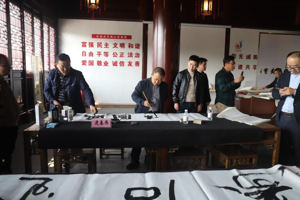 天津志愿者_城阳区举办公益笔会助学活动