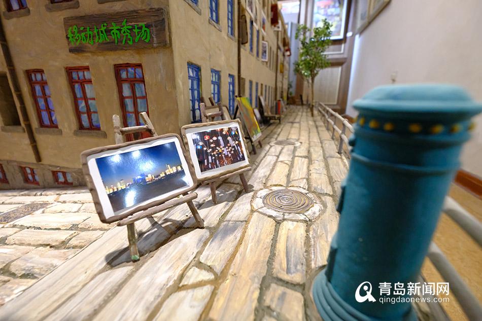 """视频:雕塑师用太空泥""""盖""""里院 作品在老城区"""