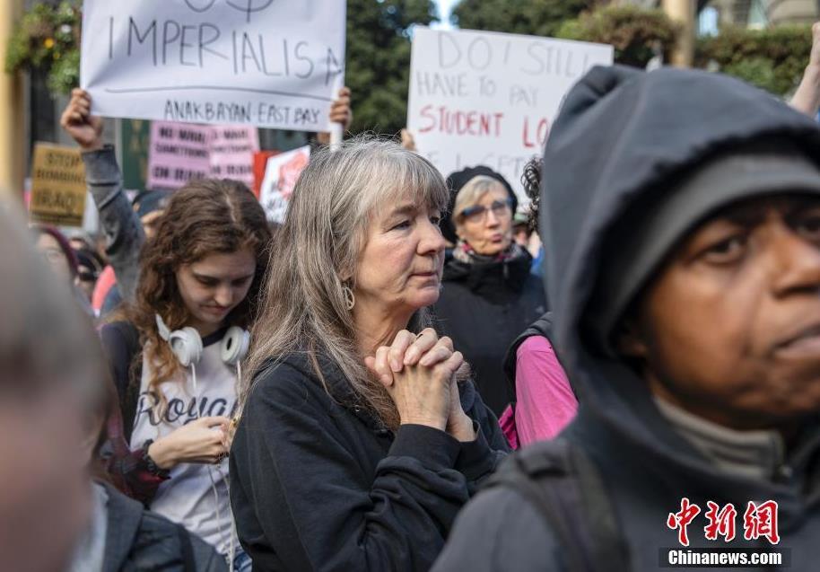 网上怎么赚钱快:旧金山上千人参加反战集会谴责美政府炸死伊朗