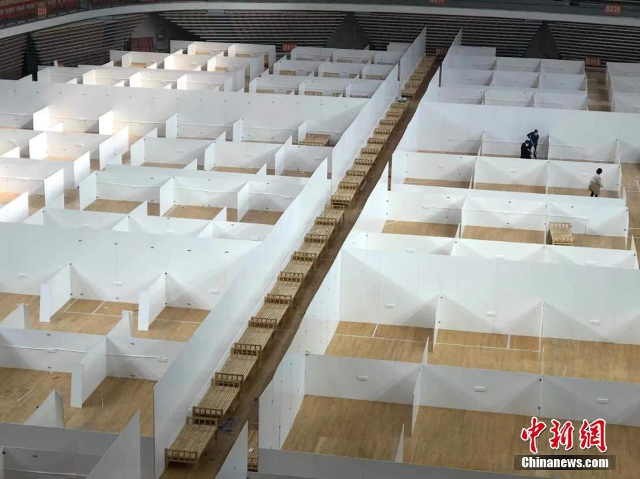北京到三亚:武汉体育中央抢建方舱医院