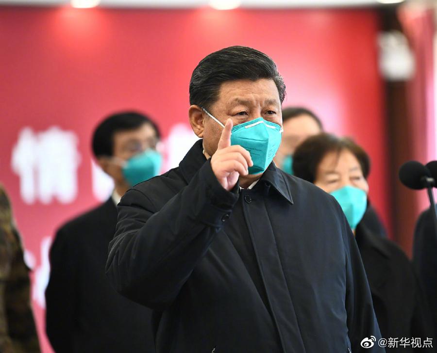 习近平抵武汉考察新冠肺炎疫情防控工作