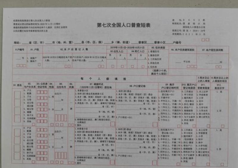 第七次人口普查登记单位_第七次人口普查