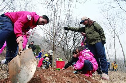 12日是第38个全民植树节 全市两天种树14万棵