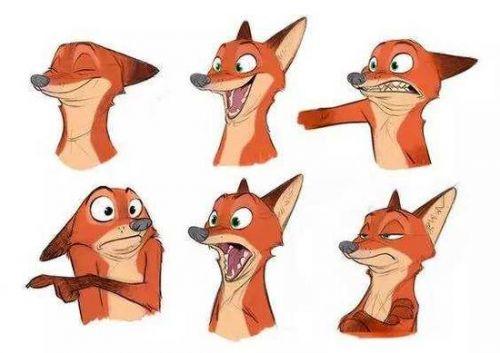 手绘卡通狐狸壁纸