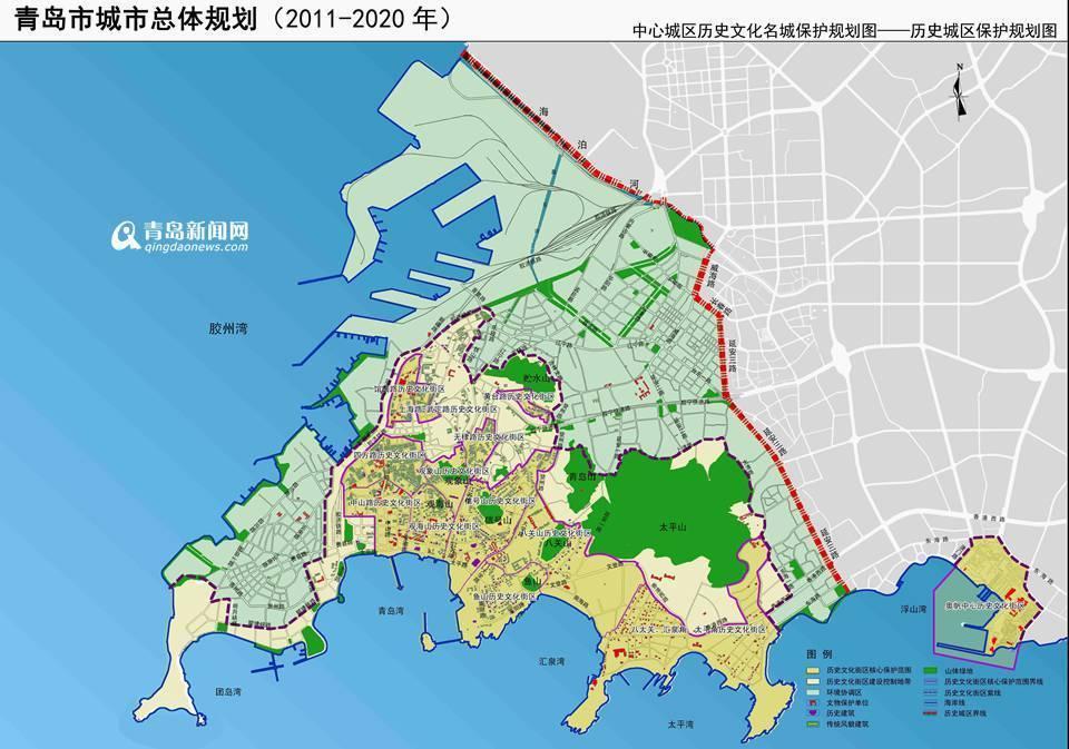 """保护青岛""""山,海,岛,城""""相融的城市空间格局"""