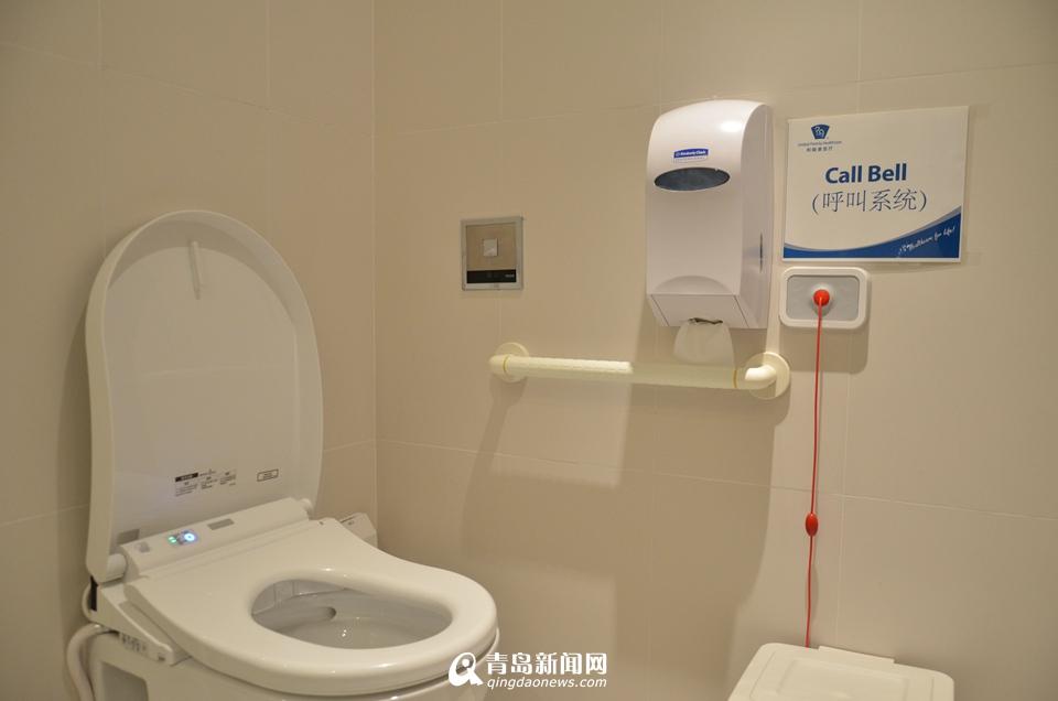 卫生间启用电子马桶,全部暖水处理