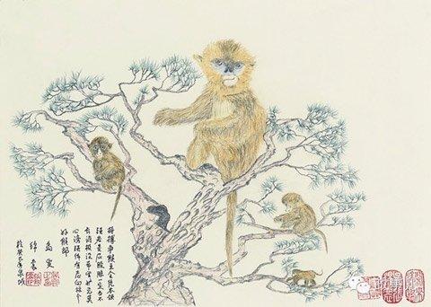 中纪委原书记吴官正退休后画铅笔画 配诗骂贪官