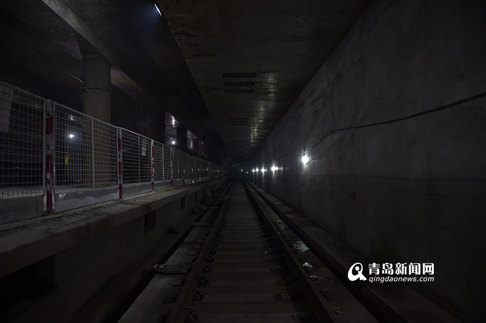青岛地铁3号线南段隧道-快了 地铁3号线南段开始调试信号图片
