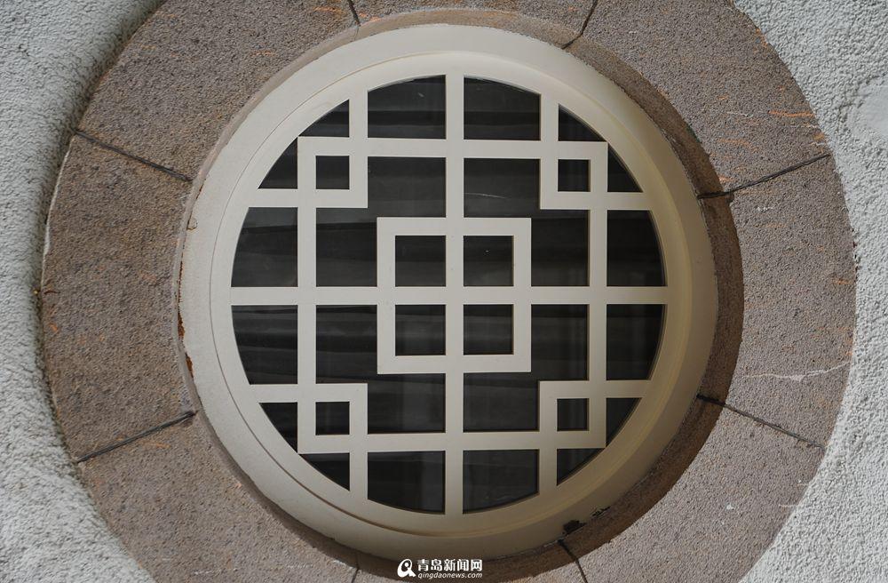 中国风格的圆形窗户