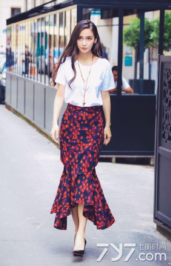 杨颖夏季搭配图片