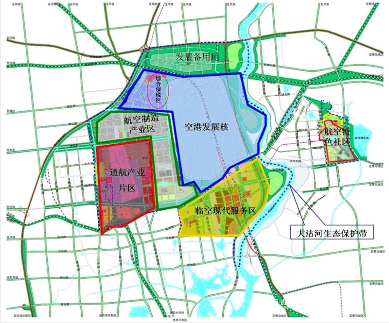 胶东临空经济区区位图公布