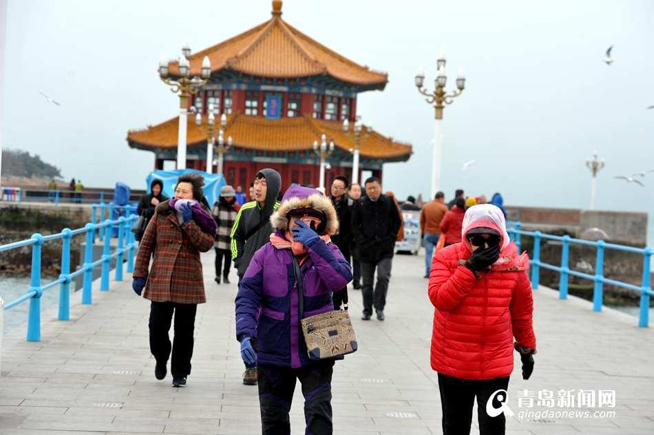 寒潮袭来青岛气温骤降