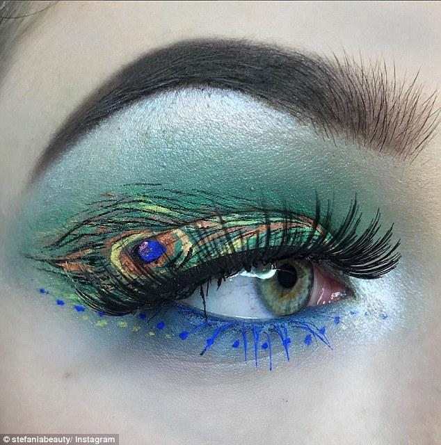 少女漏b艺术_英国少女创作微型艺术眼妆重现名家画作